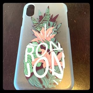 IPhone 10XR Ron Jon Phone case in good condition
